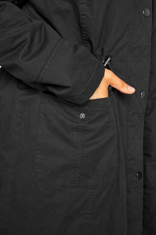 Black Faux Fur Trim Hooded Parka_E.jpg