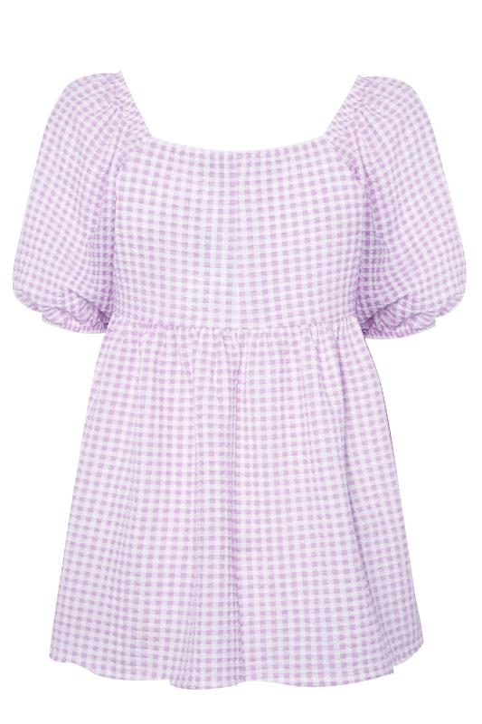 LIMITED COLLECTION Lilac Gingham Milkmaid Top_BK.jpg