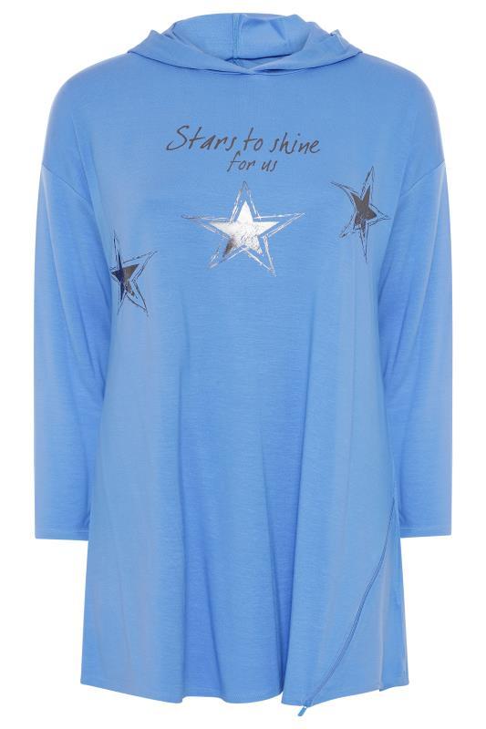 Blue Star Print Tunic Hoodie_F.jpg