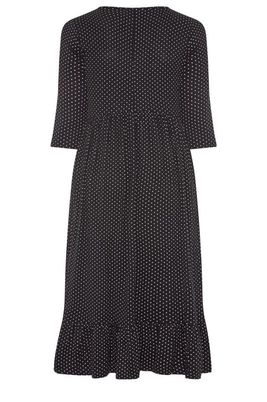 LIMITED COLLECTION Black Polka Dot Smock Midaxi Dress_BK.jpg