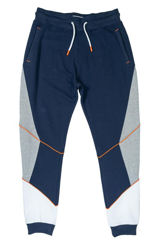 Plus Size  STUDIO A Navy & Grey Colour Block Joggers