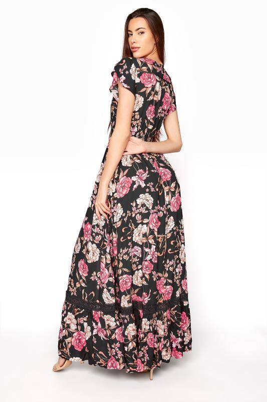 LTS Black Floral V-Neck Frill Hem Maxi Dress_C.jpg
