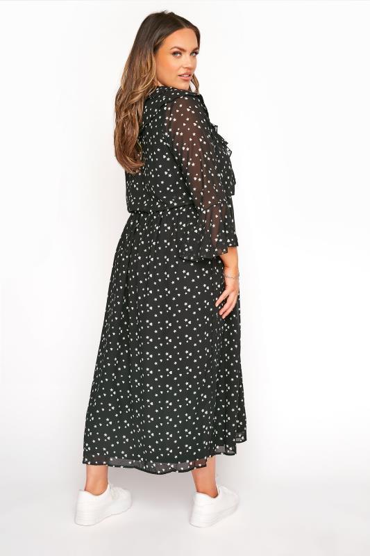 LIMITED COLLECTION Black Chiffon Star & Heart Frill Midi Dress_C.jpg