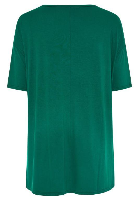 Emerald Green Oversized Jersey T-Shirt_BK.jpg