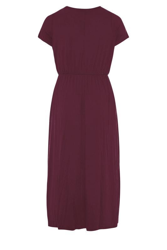 YOURS LONDON Burgundy Pocket Maxi Dress_BK.jpg