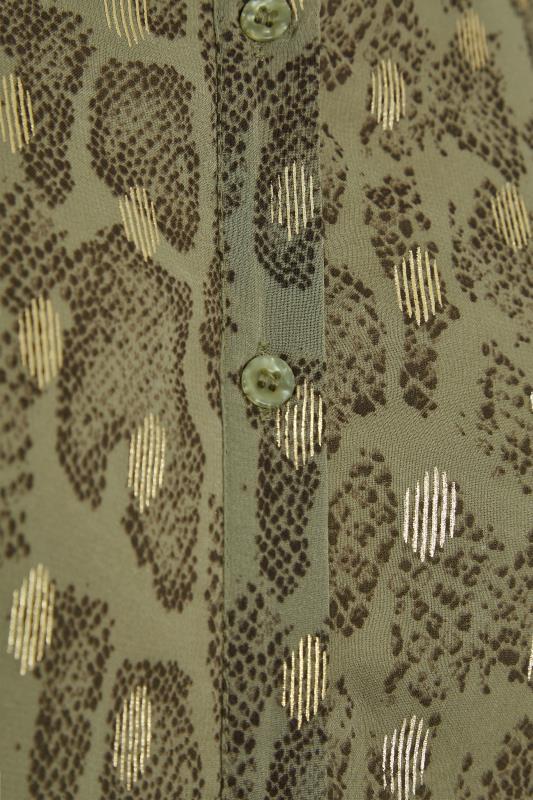 LIMITED COLLECTION Khaki Foil Snake Tiered Shirt Dress_D.jpg