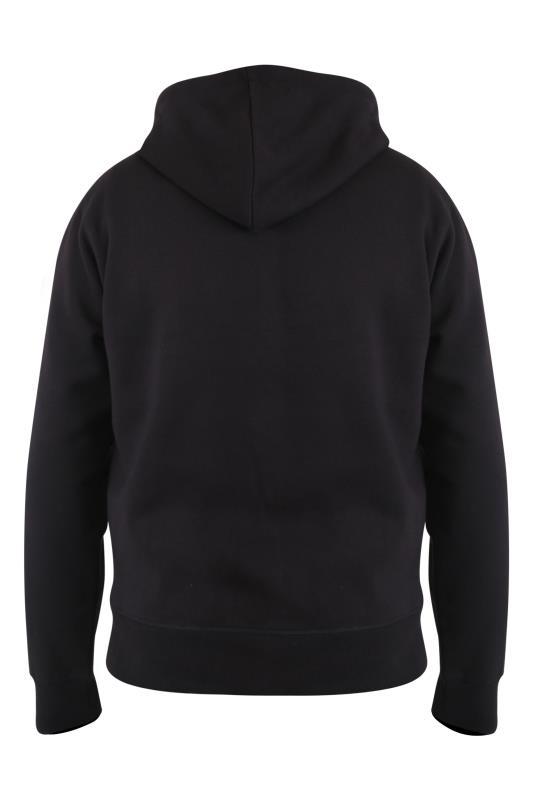 D555 Black Couture Stripe Sleeve Zip Through Hoodie_BK.jpg