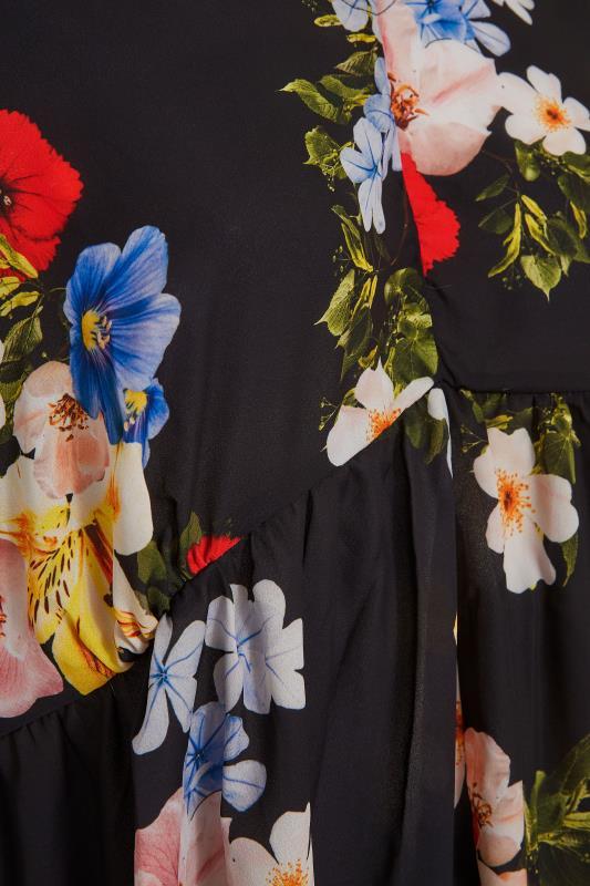 Black Floral Peplum Tunic Blouse_S.jpg