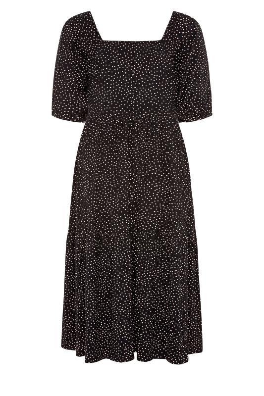 Black Polka Dot Square Neck Midaxi Dress_BK.jpg
