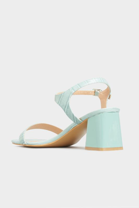 LIMITED COLLECTION Mint Green Block Heel Croc Sandals In Extra Wide Fit_C.jpg