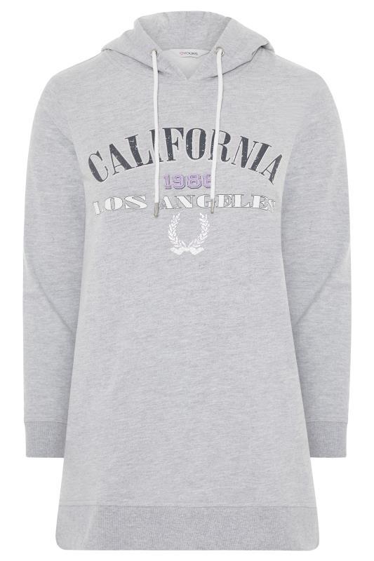 Grey California Slogan Longline Hoodie_F.jpg