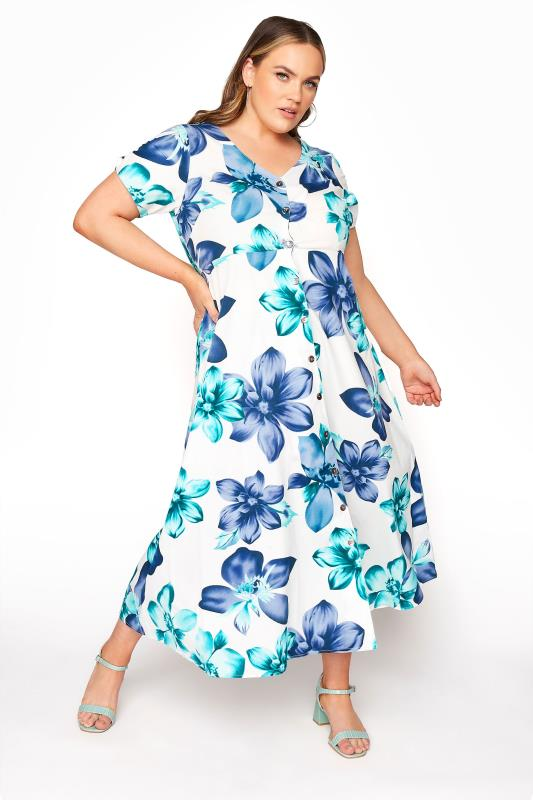 LIMITED COLLECTION White Floral Midi Dress_B.jpg