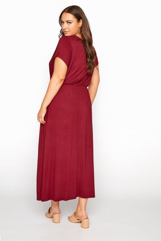 YOURS LONDON Wine Red Pocket Maxi Dress_C.jpg