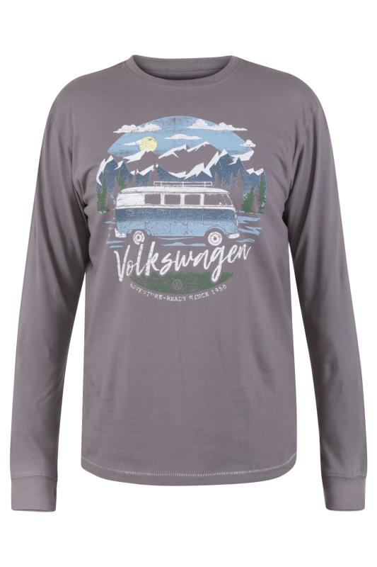 Plus Size  D555 Grey Official Volkswagen Long Sleeved T-Shirt