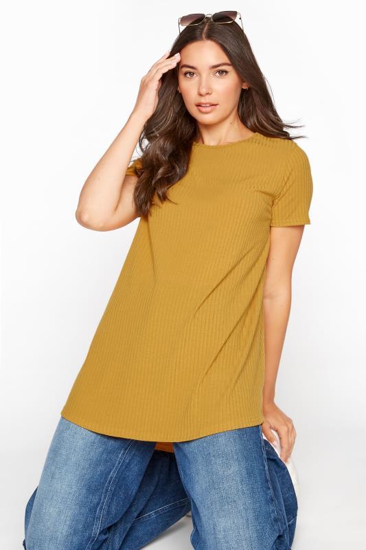 LTS Mustard Yellow Swing Ribbed T-Shirt_D.jpg