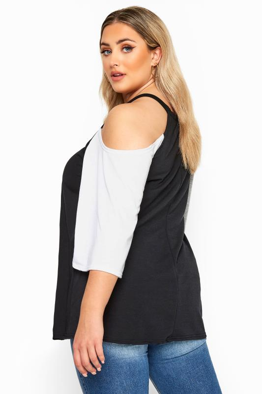 LIMITED COLLECTION Black Cold Shoulder Jersey Top