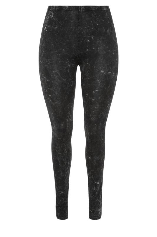 Black Acid Wash Cotton Leggings_F.jpg