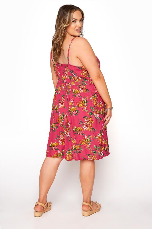 Pink Floral Strappy Crinkle Dress_C.jpg