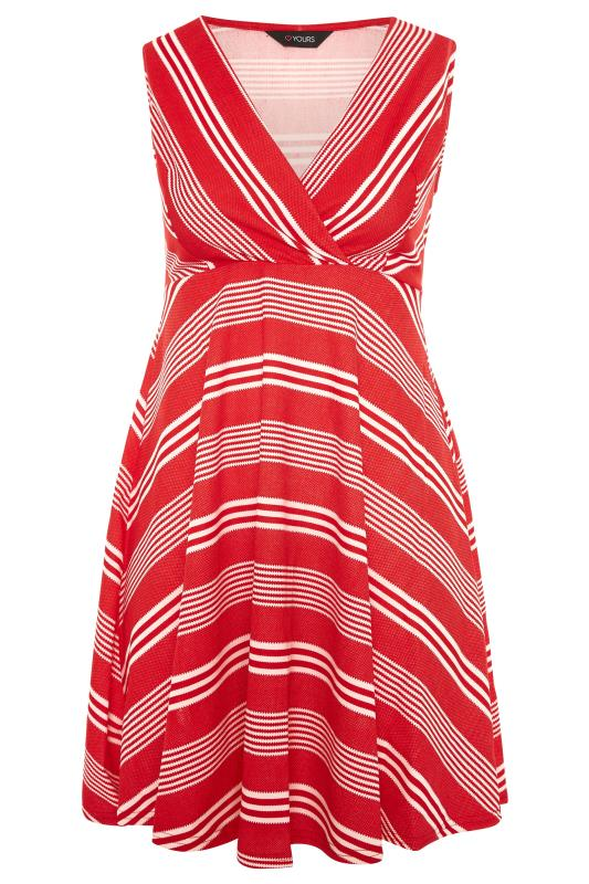 Red Stripe Wrap Skater Dress_F.jpg