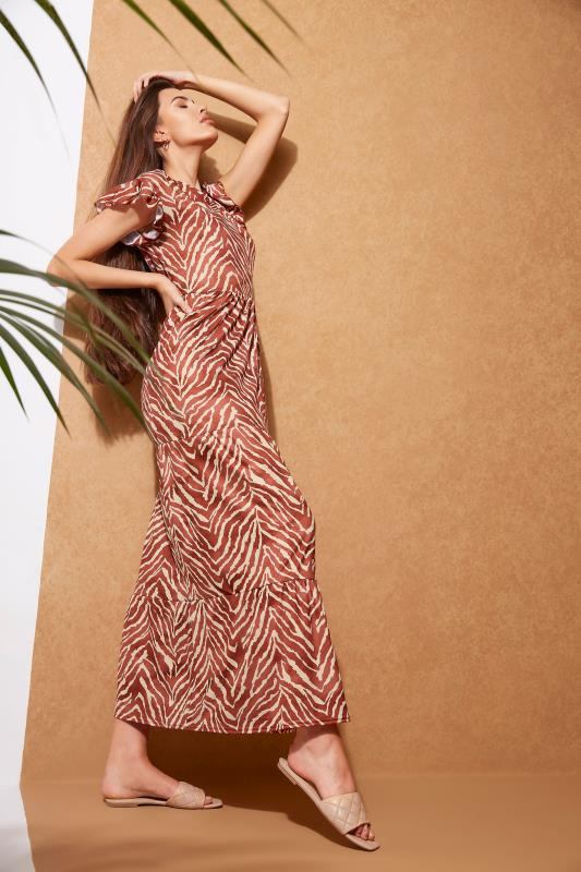 LTS Rust Zebra Print Tiered Midaxi Dress_L.jpg