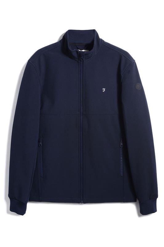 Plus Size  FARAH Navy Softshell Jacket