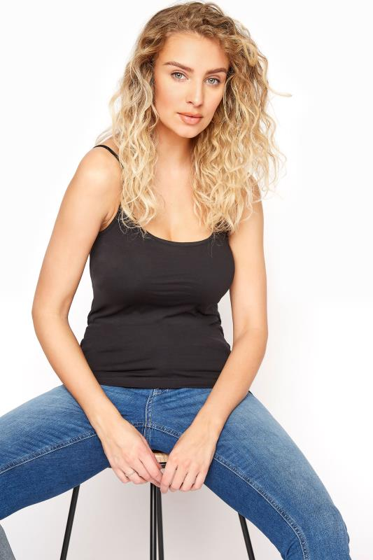 LTS Black Cotton Stretch Cami