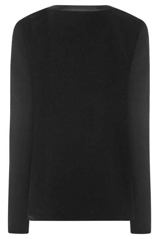 LONG ELEGANT LEGS Black Fleece Top