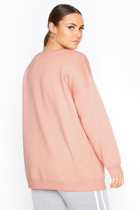 LIMITED COLLECTION Pink Cotton Jersey Sweatshirt