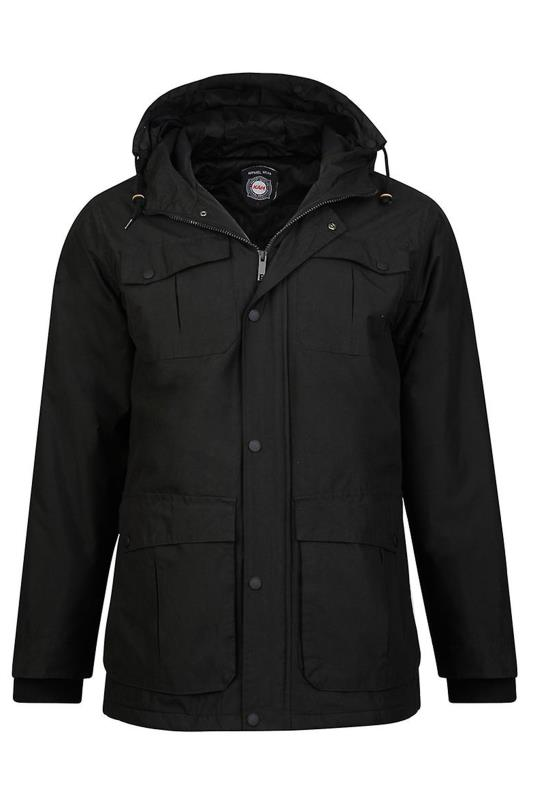 Plus Size  KAM Black Padded Jacket