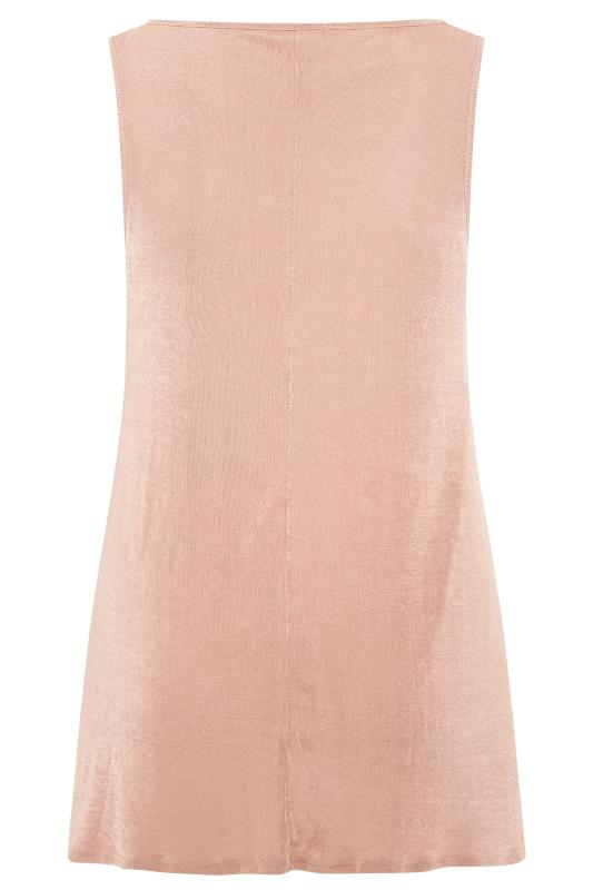 YOURS LONDON Nude Pink Slinky Co-ord Vest Top
