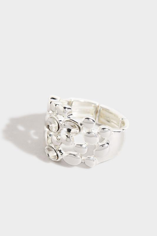 Silver Stone Cluster Stretch Ring_A.jpg