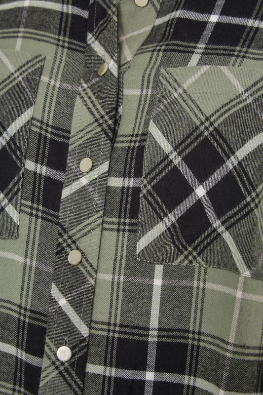 Green Check Cotton Boyfriend Shirt_S.jpg