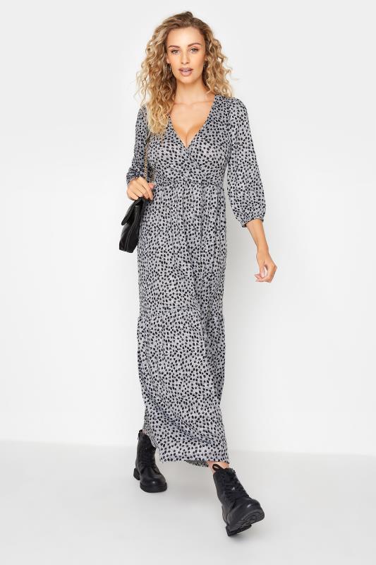 LTS Grey Animal Print Midaxi Dress