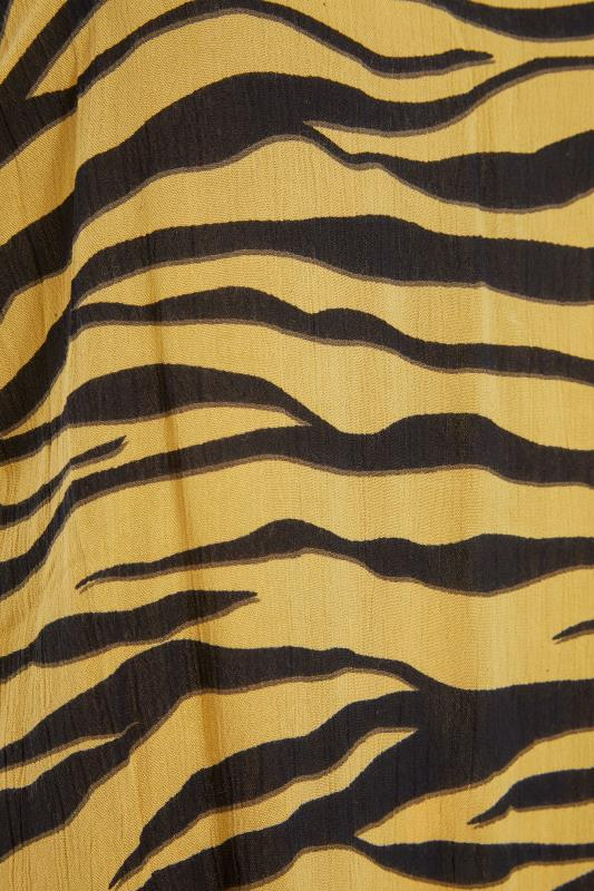 LIMITED COLLECTION Mustard Yellow Zebra Strappy Swing Cami_S.jpg