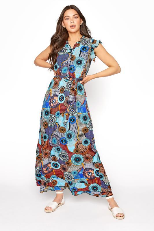 LTS Blue Circle Frill Wrap Maxi Dress_A.jpg