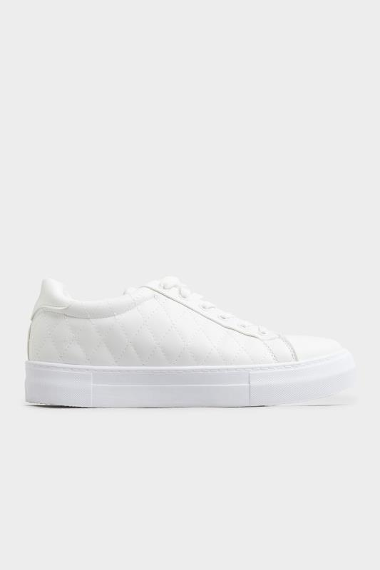 LIMITED COLLECTION White Quilted Trainers In Wide Fit_B.jpg