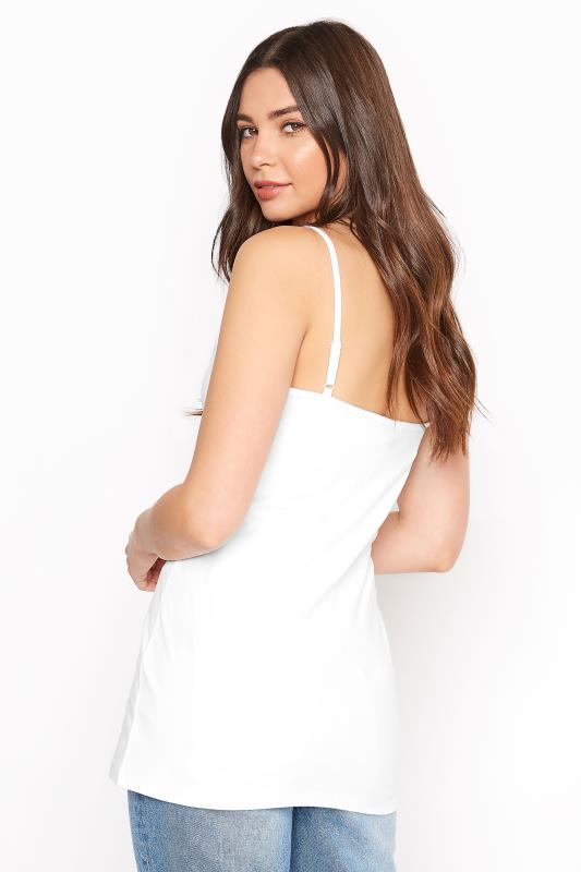 White Cotton Stretch Cami