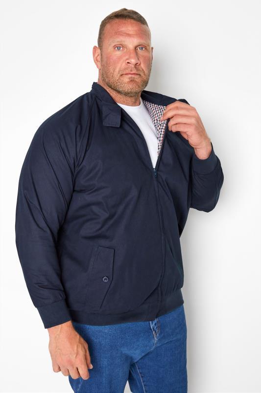 Plus Size Jackets KAM Navy Harrington Jacket
