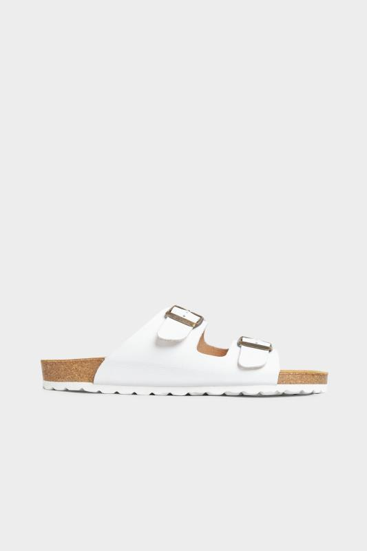 White Leather Two Buckle Footbed Sandals_A.jpg