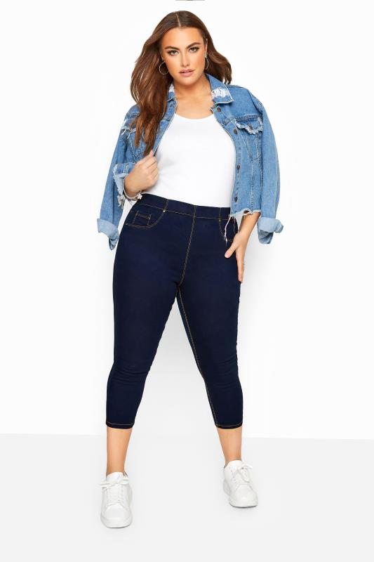 Jeggings Grande Taille Indigo Blue Cropped JENNY Jeggings