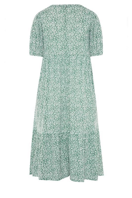 Sage Green Floral Frill Hem Midi Dress_BK.jpg