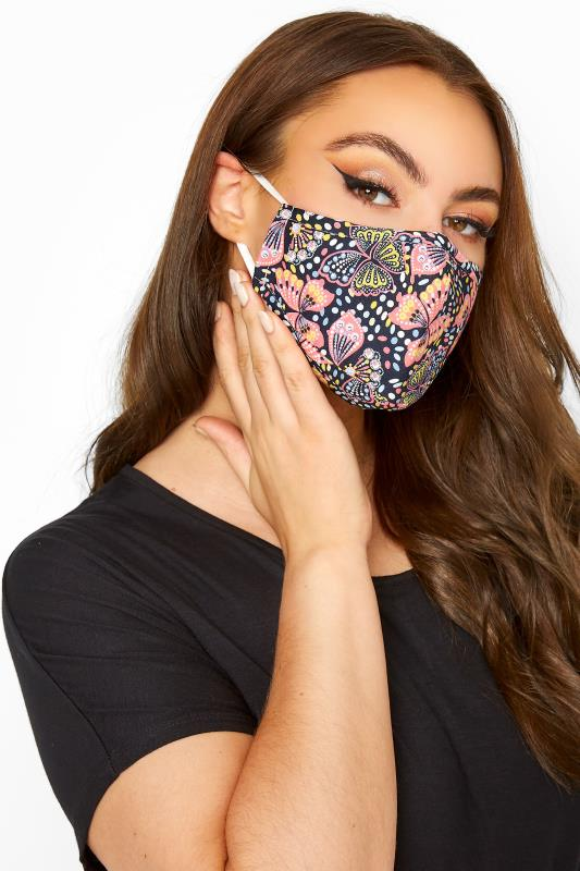 Tall  Yours Multi Butterfly Print Filtered Face Mask