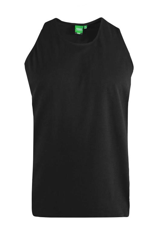 Men's  D555 Black Muscle Vest
