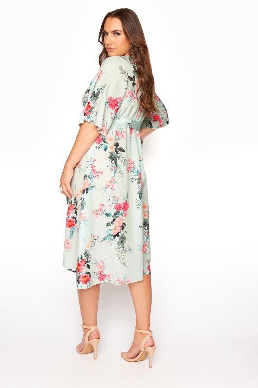 YOURS LONDON Sage Floral Wrap Dress_C.jpg