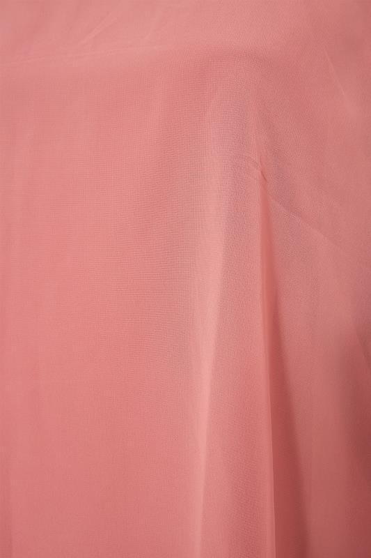 YOURS LONDON Pink Chiffon Cape Blouse_S.jpg