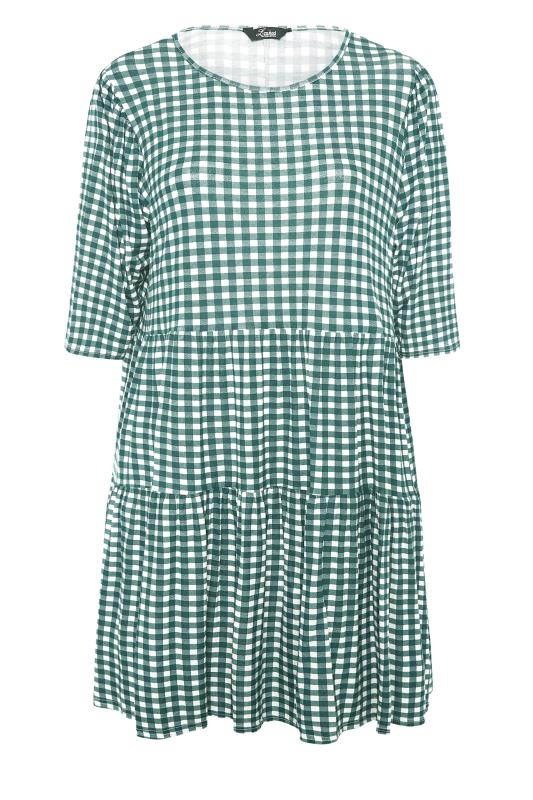 LIMITED COLLECTION Green Gingham Smock Midi Dress_F.jpg