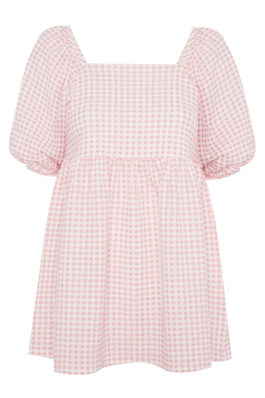 LTS Pink Gingham Square Neck Milkmaid Top_F.jpg