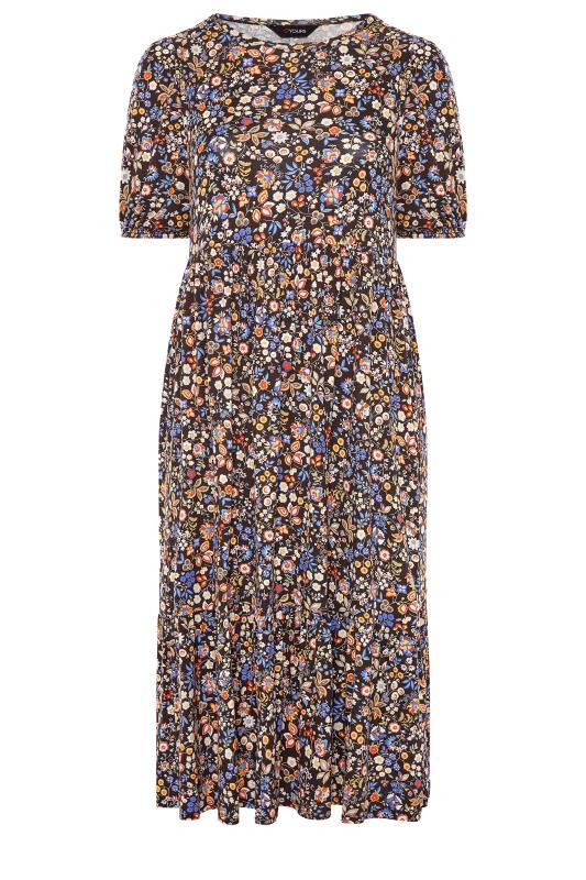 Black Paisley Print Puff Sleeve Midaxi Dress_F.jpg