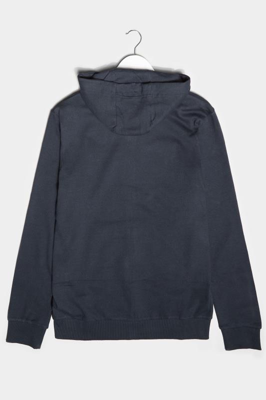 BadRhino Navy Essential Zip Through Hoodie