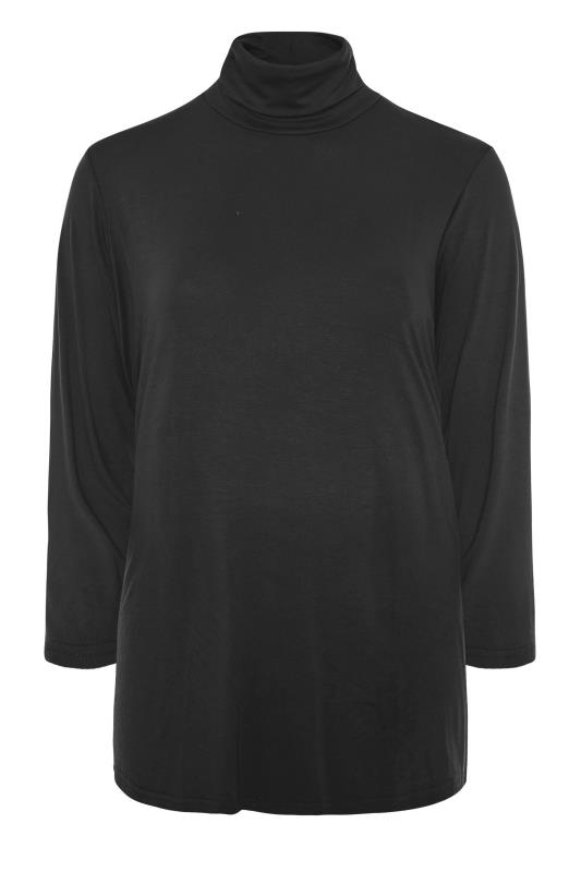 LIMITED COLLECTION Black Turtle Neck Top_F.jpg